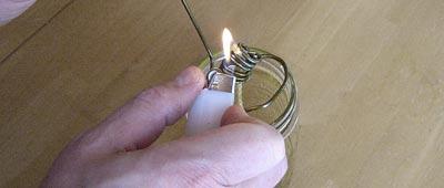 Зажигание масляной лампы