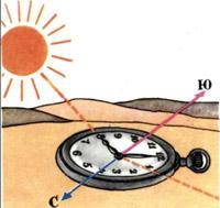 ориентирование по часам и солнцу картинки